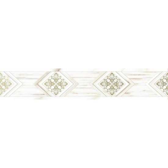 Бордюр CALACATTA GOLD GT 10200000102 40х7,5 белый