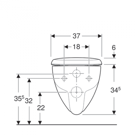Унитаз подвесной GEBERIT RENOVA PLAN 202170000 Remfree,квадратный,сиденье 572120000 softclose