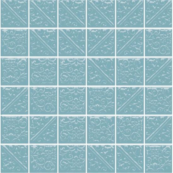 Мозаика ЛА-ВИЛЛЕТ 21030 30,1х30,1 бирюзювый темный