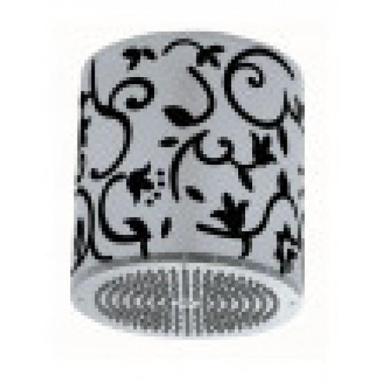 Душевая лейка LUMIERE-TONDO H84003 черный/хром, самоочищающаяся, с плафоном, подсветкой