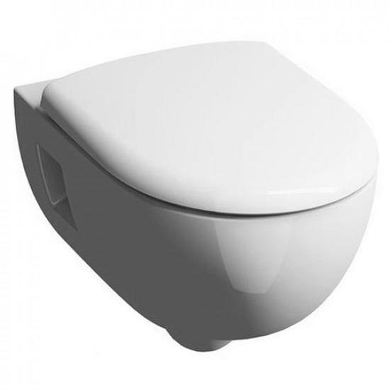 Унитаз подвесной GEBERIT RENOVA N1 F20307 PREMIUM безободковый + сиденье  F573025 латунь хром